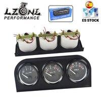 LZONE - 52MM 3 en 1 voltímetro + medidor de temperatura del agua + Kit de medidor de presión de aceite voltímetro o medidor de temperatura del aceite Triple