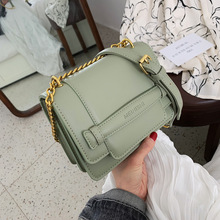 2019 new pu leather solid color womens bag chain ladies shoulder fashion casual diagonal small square