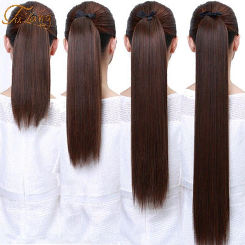 TALANG Длинные прямые Конские волосы 85 см женские заколки для волос накладные волосы с заколками синтетические волосы для наращивания