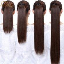Talang longo reta rabo de cavalo hairpiece 85cm fêmea grampo de cabelo cauda cabelo falso com hairpins extensões de cabelo sintético