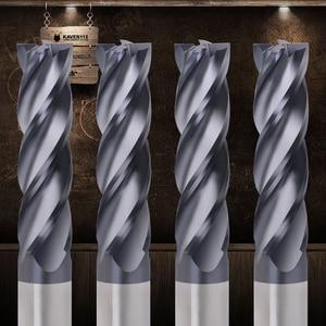 ZGT Tungsten Steel Milling Cutter HRC50 4 Flute Alloy Carbide End Mill Cnc Tools 2mm 3mm 4mm 5mm 6mm Metal Cutter Wood Endmill