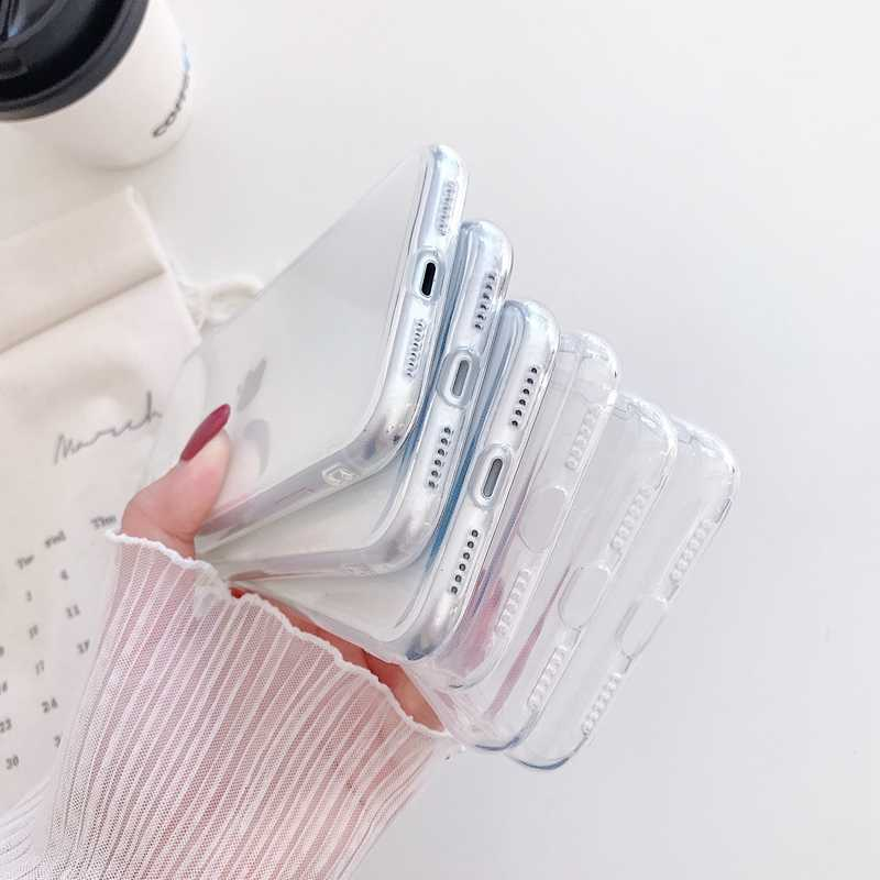 透明ソフト電話ケース小箱iphone 11 プロマックスse 2020 6 7 8 プラスx xs xr xs最大ソフトtpuバックカバーcoque