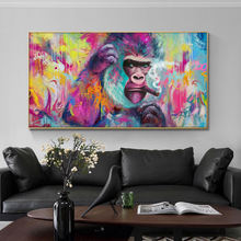 Забавная картина для курительного орангутана декоративная настенные