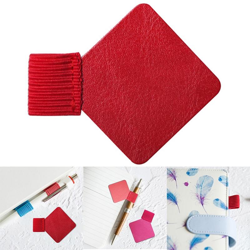 Self-adhesive PU Leather Pen Clip Pencil Elastic Loop For Notebooks Journal Hi 888