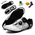 Кроссовки SPD мужские для езды на велосипеде, спортивная обувь для шоссейного велосипеда, самозакрывающиеся Сникерсы для горного велосипеда