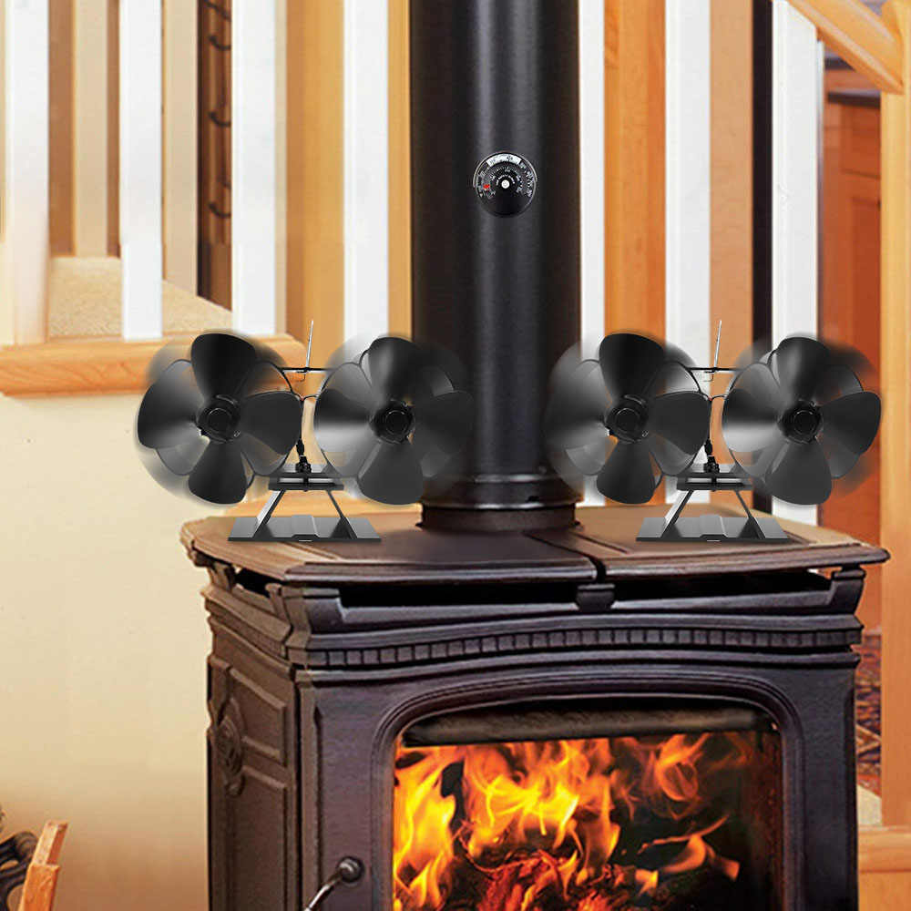 2020 New Home Type Practical Double Stove Fan For Fireplace Wood
