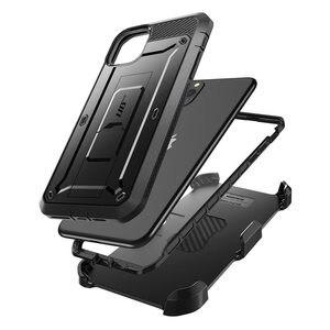 """Image 2 - Para o iphone 11 pro caso 5.8 """"(2019) sucase ub pro corpo inteiro áspero coldre caso capa com built in protetor de tela & kickstand"""