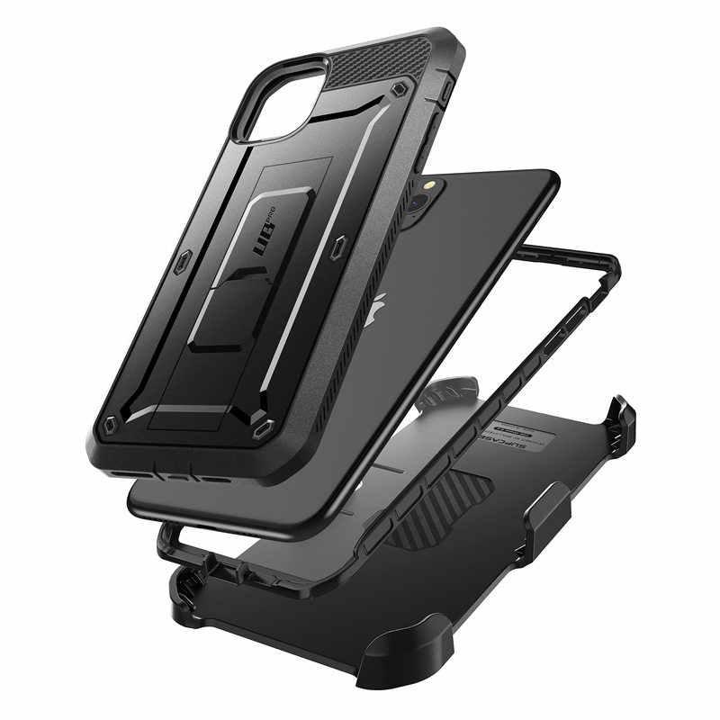 """Para o iphone 11 pro caso max 6.5 """"(2019) supcase ub pro capa de coldre robusto de corpo inteiro com protetor de tela embutido & kickstand"""