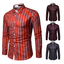 Medusa Shirt Mens Dress Shirts Hawaiian Men Long Sleeve Sleeves for Stripe