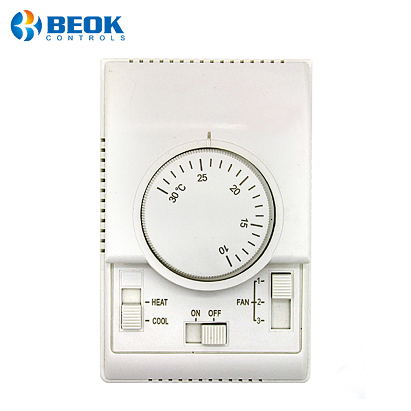 Mechanical Air Conditioner Thermostat Fan Coil Heating Cooling Room Central Air Conditioning Thermoregulator Controller
