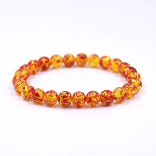 Warna Solid Klasik Seri Resin Manik-manik Gelang Amber Batu Pria Wanita Pesona Gelang Perhiasan Buatan Tangan Hadiah