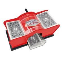 Cartão de poker automático shuffler jogo de tabuleiro mão dobrado jogando cartas shuffler máquina engraçado da família jogo clube robô cartão shuffler