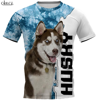 Husky Dog Animal T-shirt Women Men Plus Size Tee Tops 3D Full Print Short Sleeve Pet Dog Tshirt Casual Sweatshirts Drop Shipping