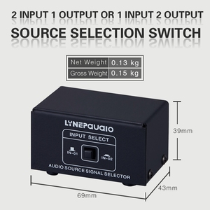 Image 5 - 2 in 1 Out or 1 in 2 Out o Source Signal Selector, Switcher, Speaker, o Source, Switcher, RCA Interface, Lossess