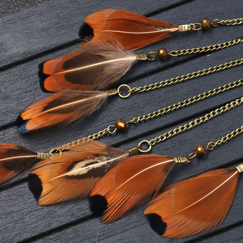 H30b83bb5e6d142abac2f3f5c12e931f5v - Women Bohemian Ethnic Long Chain Feather Pendant Dreamcatcher Necklace Choker Boho Clothing Jewelry Accessories