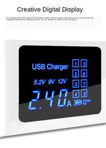 Image 2 - ฮับ 4 พอร์ตUSB Charger Usb LEDอะแดปเตอร์ชาร์จไฟสำหรับIphoneโทรศัพท์มือถือFast Chargingแท่นวางStation EU US UK Plug