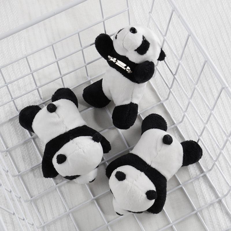 2019 Women Trendy Fashion Panda Women Clothes Plush Beautiful PINS BROOCHES Cute Stuffed Animal Bag Charm Accessary Kids Girls