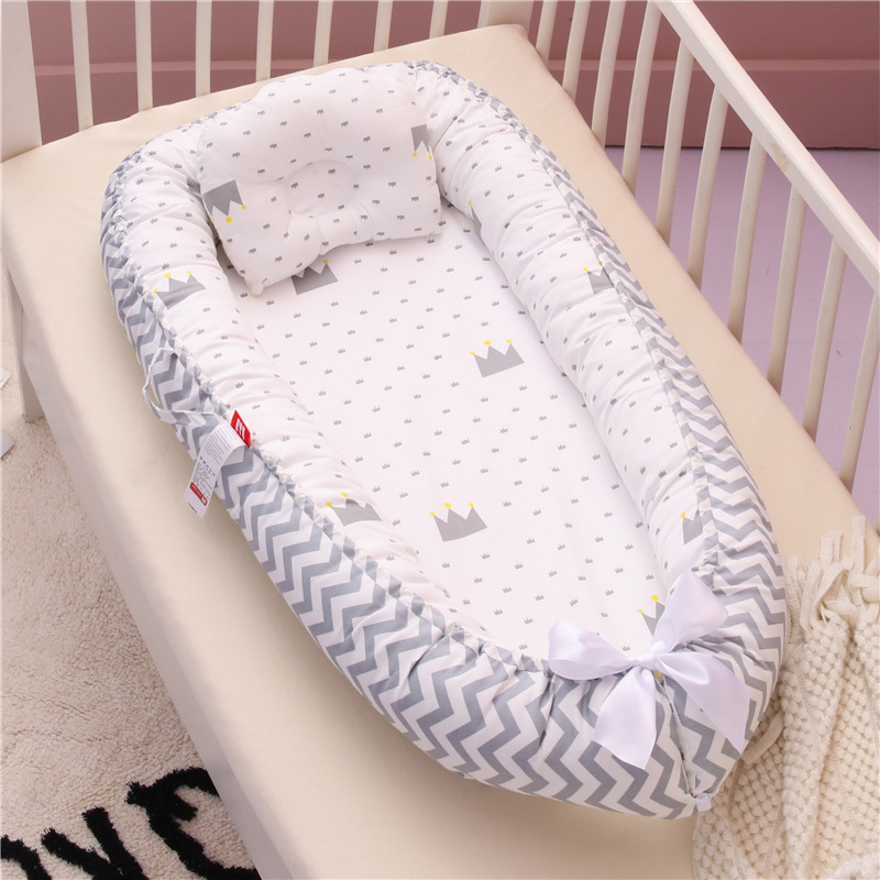 Baby Nest Bed Crib Portable Removable And Washable Crib Travel Bed For Boys Girls Children Infant Cotton Cradle