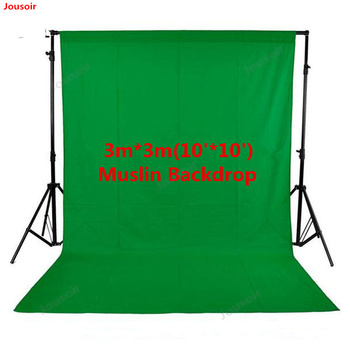 Photo Studio 100% Cotton 3m x 3m Solid Green Screen Muslin Backdrop Photography Backgrounds Backdrops CD50 T03 LL1