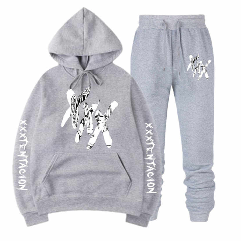 Xxxtentacion hoodies 남성/여성 스웨터 + 운동복 정장 캐주얼 풀오버 streetwear 스웨트 sudadera hombre xxxl