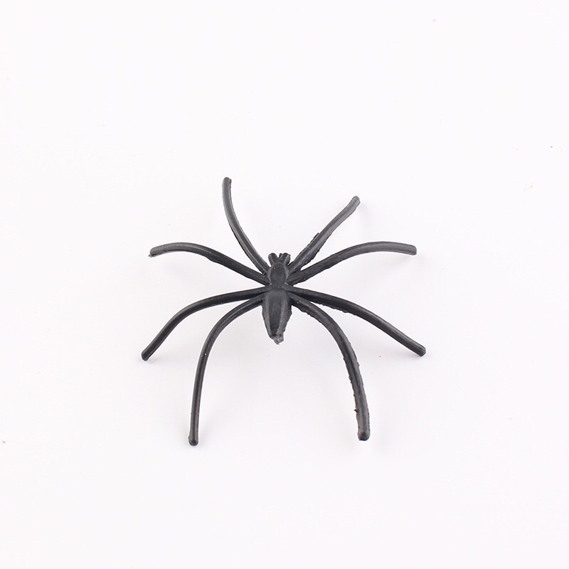 30PCS Plastic Black Spider Trick Toy Halloween Haunted House Prop Decorations Christmas Children's Day Gift