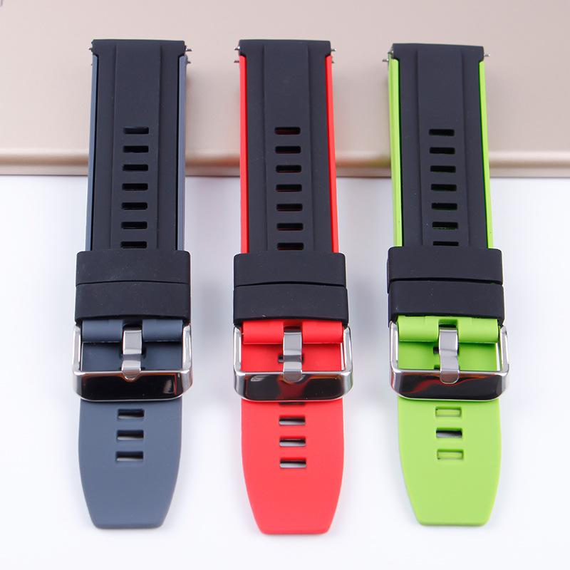 Ремешок силиконовый для huawei watch gt/gt 2 46 мм браслет смарт