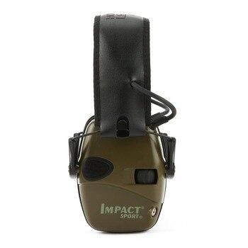 Orejera electrónica táctica caliente para disparar deportes al aire libre, auriculares antiruido, auriculares de protección auditiva de amplificación de sonido de impacto