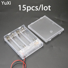 15pcs/lot 4x AA Battery Holder Box Case New 4 With ON/OFF Switch storage box