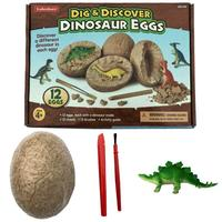 12pcs Discover Dinosaur Eggs Excavation Archaeology Dig Fossil Skeleton Anmial Figures Toys for kids Ultimate Dinosaur Science