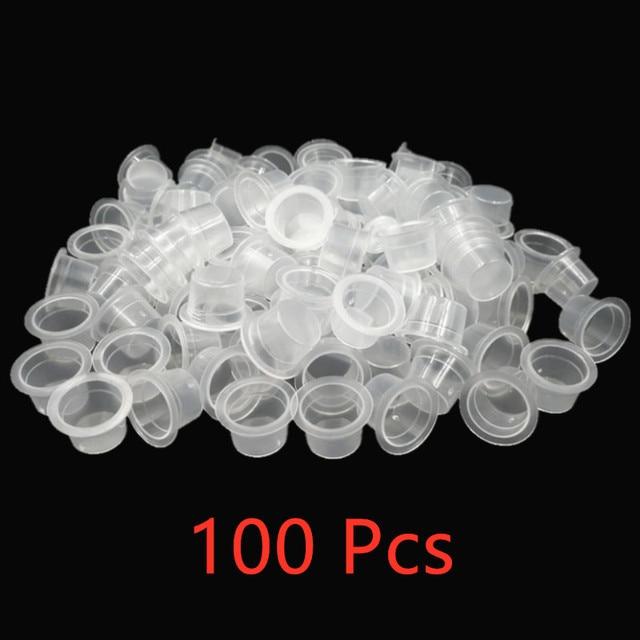 100 шт., одноразовые контейнеры для пигмента для перманентного макияжа