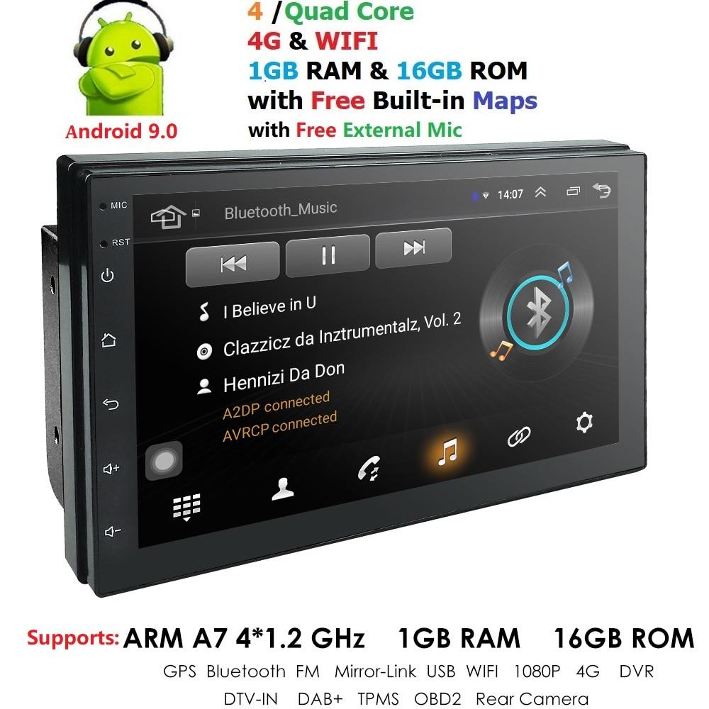 Android 9,0 2 Din Автомобильный Радио Мультимедийный видео плеер Универсальный Авто Стерео GPS карта для Nissan Hyundai Kia toyota
