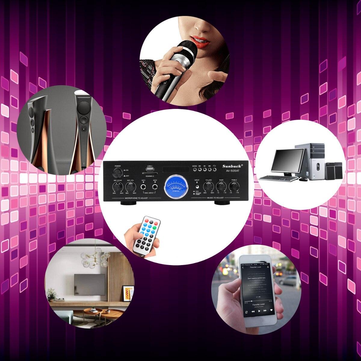 Leistungsstarke 2500W bluetooth 2,0 Kanal Audio Power HiFi Verstärker Surround Wirkung mit Fernbedienung für Auto Home