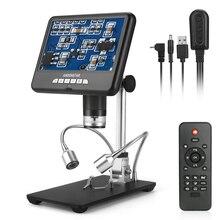 Andonstar-microscopio Digital de larga distancia, herramienta de soldadura para reparación de teléfono/PCB/SMD con imagen giratoria, 3D, AD207