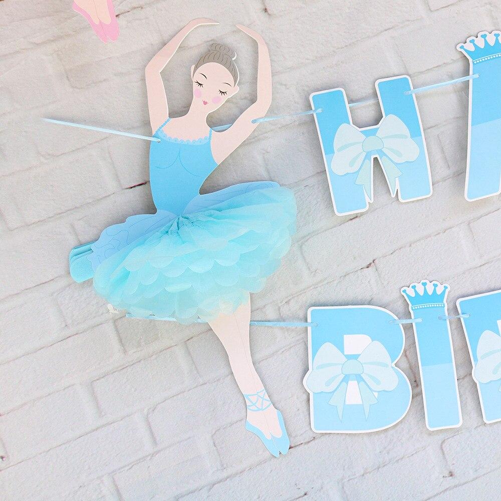 Name Banner Party Decorations Little Girl Banner Personalized Little Ballerina Happy Birthday Banner Little Ballet Dancer Customize