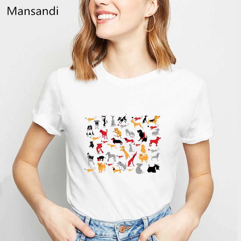 בציר חולצה נשים גרייהאונד עם שמש הרי בעלי החיים הדפסת פאטאל אסתטי בגדי ווג tshirt נקבה streetwear