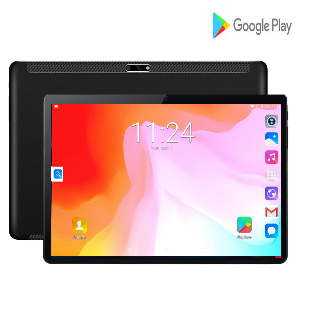 Fast Shipping 10 Inch Tablet Android 7.0 Quad Core 2GB RAM 32GB ROM 3G Wifi GPS Phone Call Glass Screen Tablet Pc 10.1 + Gifts