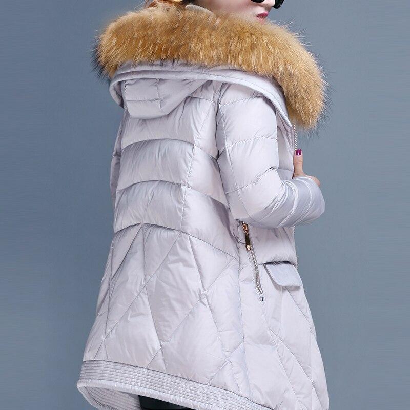 Winter Down Jacket Women Korean Long Down Coat Female Slim Thick Warm Clothes Jacekt + Fur Hooded Coats Ladies 2020LW1089