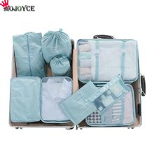9pcs/Set Waterproof Cosmetic Storage Bag Travel Makeup Toiletry Handbags Clothing Shoes Packing Organizer Portable Storage travel toiletry storage bag brush organizer pencil case packing organizer travel accessory