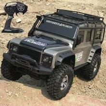 Carro de controle remoto 2.4g 4wd 1:10, mais novo carro rc com luz led, escalada, carro rtr carro de brinquedos ao ar livre modelo