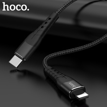 HOCO USB Type C to USB Cable For iPhone Xs Max X 8 Plus 18W PD 3A Fast Charging Charger Type-c USB C Cable For Apple Data Cord цены