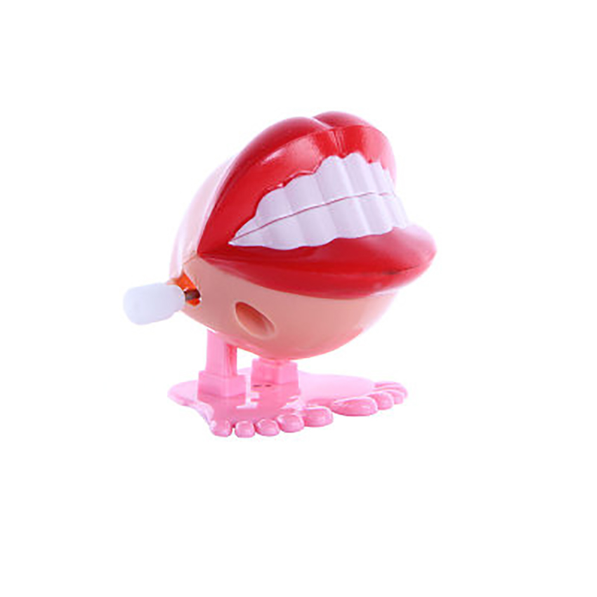 Wind-up Red Lips Mouth Toys for Kids Party Favors Children's Birthdays Gift, Chattering Wind Up Teeth Kids Toy Decoration