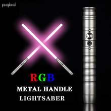 Pqbd rgb световой меч 11 видов цветов меняющий металлический