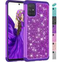 2in1 Cute Glitter Lady Phone Case For Samsung A10 E A20 A30 A50 A505 A30S A50S S8 Soft Silicone Holder Sparkling Back Cover V03F
