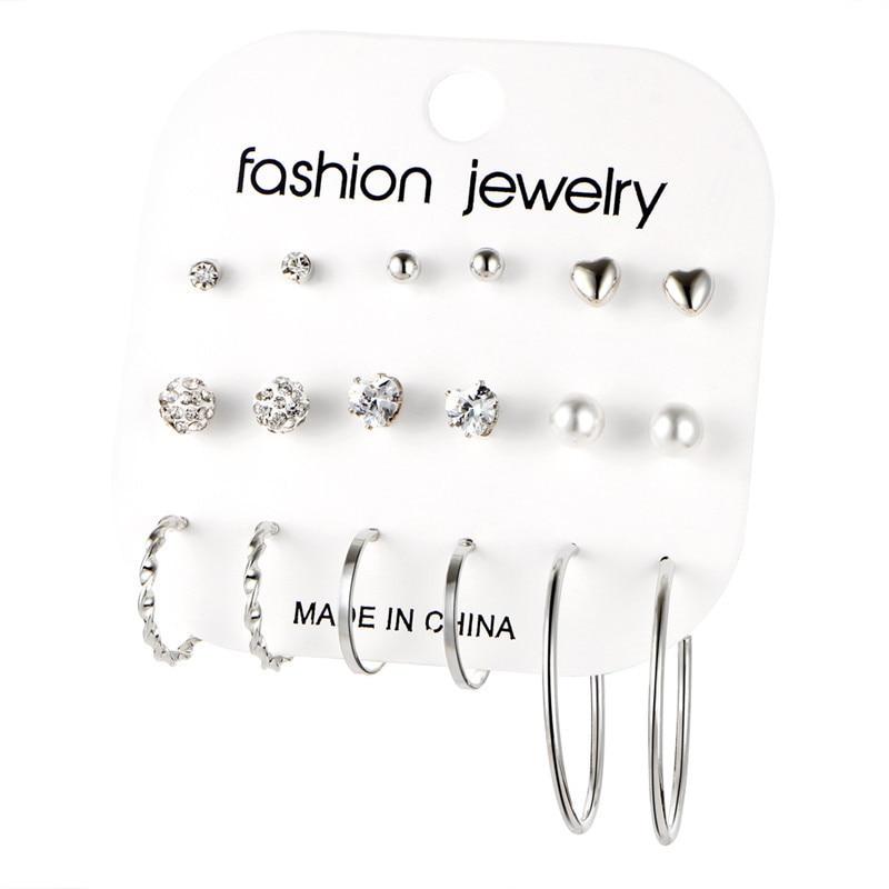 17 км акриловые серьги с кисточками для женщин, богемные серьги, набор больших геометрических висячих сережек Brincos, Женские Ювелирные изделия DIY - Окраска металла: Earrings Set 18