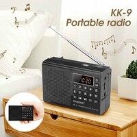 KK-9 портативный цифровой fm-радио TF карта U диск музыкальный плеер заряжаемая через интерфейс USB колонка
