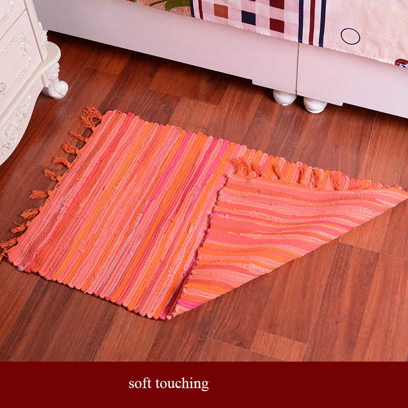 Hand Woven Cotton Floor Door Sofa Mat