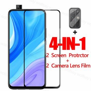 Перейти на Алиэкспресс и купить Полное покрытие экрана протектор для Huawei Y9s Y6s Y8p Y7p Y6p Y5p P30 Lite Y9 Prime стекло для Honor 9A 9C 9S X10 9X закаленное стекло