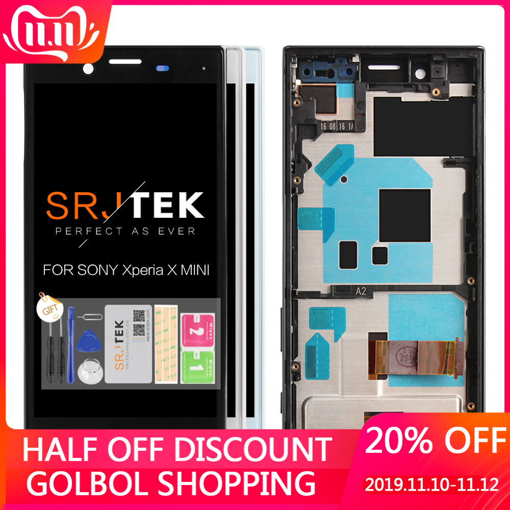 Tested 4.6'' 1280x720 LCD For SONY Xperia X Compact LCD Display Touch Screen Digitizer With Frame F5321 Replacement Parts