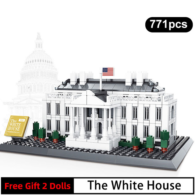 778pcs 7018 World Famous Architecture The White House Usa Presidential Palace Building Blocks Bricks Models For Children Gifts Blocks Aliexpress