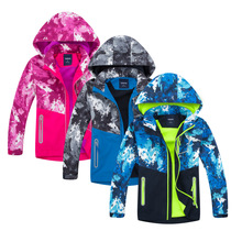 New Boys Girls Jacket Camouflage Polar Fleece Spring Autumn Kids Hooded Jackets Coat Waterproof Windproof Children Clothes new 2016 autumn winter children polar fleece coats kids girls boys outdoor thick thermal fleece jackets 120 150 free shipping